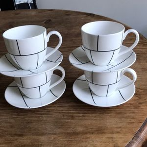 Kate Spade coffee cups @ plates
